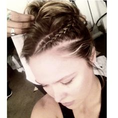 """It wouldn't be Pinterest if there weren't at least one hairdo pic! Photo by rondarousey: """"My BA hairdo for @espnmag 's shoot today :)"""" #armbarnation Visit RondaRousey.net"""