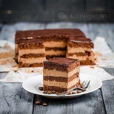 Rewelacyjne ciasto złożone z trzech podstawowych składników: czekolady, kawy i śmietanki. Ciasto mocca jest pyszne, aromatyczne i bardzo łatwe w przygotowaniu. Składniki Biszkopt 4 jajka 4 łyżki kakao 2 łyżki mąki pszennej 1 łyżka mąki ziemniaczanej 1 łyżeczka proszku do pieczenia 3 łyżki cukru Masa 300 g śmietanki 30%