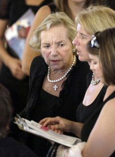 Ethel Kennedy at Eunice Shriver's funeral.