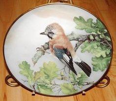 """EURASIAN JAY BIRD Garrulus Glandarius FRANKLIN PLATE   13.29+9.99  8-1/4"""""""