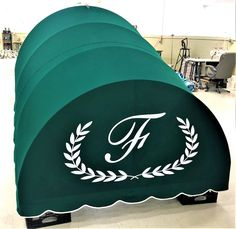 Don't give up on your old awning! Let us recover it. #sunbrella #logo #awning #jamestownawning #curbappeal