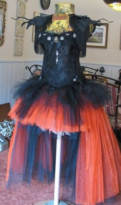 This thread is fantastic really LOVE seeing everyone's witches. I am doing a little different witch costume this year and still working on it but it is coming along nicely. I am waiting on some cool spiders I found on ebay to put all over the dress and hat but here it is so far.This is the hat.This is not my face but I will be recreating it for my version of a wild and crazy witch!