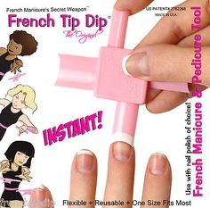 Use Any Nail Polish or Gel! French Tip Dip French Manicure kit + free nail art