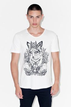 "T-SHIRT ""FOX"" // Artist: Julia Vysotskaya for Ingmar Studio. Click on image to see more. Now for 15 EUR"