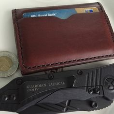 #popovleather The big...little wallet. #GuardianTactical Very sweet and underrated knife...very excellent build quality. #leather #wallets #knives #EDC