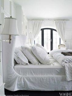 Slipcovered bed frame