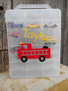 Personalized Matchbox-Hotwheels Toy Car Case-Carrier. $22.00, via Etsy.