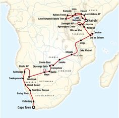 Ultimate Africa: from Cape Town to Nairobi (Duration: 54 days). Experience game drives, witness giant sand dunes and massive Victoria Falls, photograph exotic wildlife, ride in 4x4 safari vehicles and dug-out canoes, meet mountain gorillas.