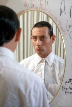 Paul Reubens dressing up as Pee Wee Herman 1980