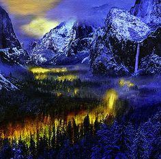 Bob and Nadine Johnston - Yosemite Valley at Night