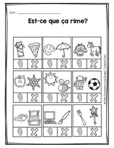 Est-ce que ça rime? Literacy Games, Speech Therapy Activities, Early Literacy, Teaching Kindergarten, Teaching Tools, Teaching Kids, Teaching Reading, Learning, Speech Language Pathology