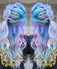Pastel purple rainbow dyed hair @singi.vo.peters