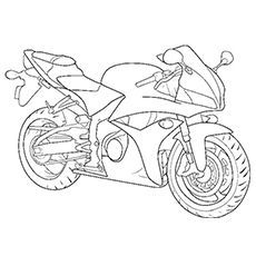 Motorcycle Coloring Pages Free Printable For Kids Race Car