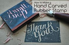 How to make a hand carved rubber stamp