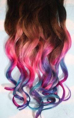 Rainbow/multicolored hair!