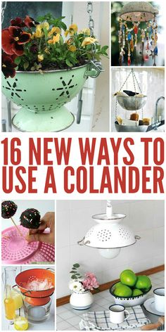 16 New Ways to Use a Colander. LOVE the kitchen light fitting!