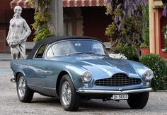 The Aston Martin is one of the most elegant grand tourer supercars available. Available in a couple or convertible The Aston Martin has it all. Aston Martin Lagonda, Aston Martin Cars, Classic Sports Cars, British Sports Cars, Classic Cars, British Car, Auto Design, Automotive Design, Retro Cars