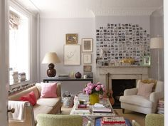 Our favorite living rooms of We've rounded up a few of the best spaces–some oldies, some newbies–of the year for your living room decor inspiration. For more best of and living room design ideas go to Domino. My Living Room, Living Spaces, Cozy Living, Small Living, Diy 2019, Display Family Photos, Sweet Home, Photo Displays, Decorating On A Budget
