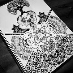 Sacred Geometry design for upper sleeve.