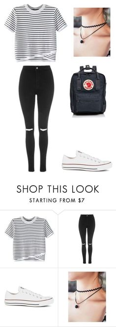 """Untitled #17"" by sophiemoore45 on Polyvore featuring WithChic, Topshop, Converse and Fjällräven"