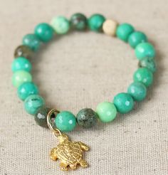 So Charming  Sea Turtle Bracelet Gold or Silver by MINTbyNoel, $38.00