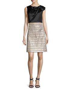 Beau+Twisted+Bow+Top+&+Nina+Metallic+Polka+Dot+Skirt++by+ERIN+erin+fetherston+at+Neiman+Marcus.