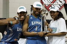 Jessica Adair ('09) briefly played basketball overseas before joining the WNBA's Minnesota Lynx. She won the WNBA Championship last season.    Photo: SportsPageMagazine.com