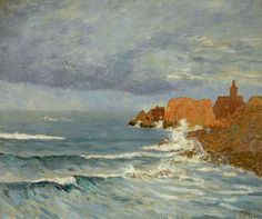 "maufra maxime red rocks 1884 sotheby (from <a href=""http://www.oldpainters.org/picture.php?/30159/category/13215""></a>)"