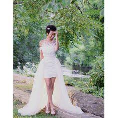 Tulle Overskirt   Champagne Tulle Wedding Skirt, Detachable Skirt, Wedding Skirt, Overlay Skirt, Tulle Train
