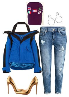 """""""Untitled #6086"""" by stylistbyair ❤ liked on Polyvore featuring Balenciaga, H&M and Christian Louboutin"""