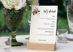 NYX Dusky Pink Wedding Bar Menu I Wedding Menu Card I Wedding | Etsy Wedding Drink Menu, Wedding Menu Cards, Dusky Pink Weddings, Menu Card Template, Bar Menu, Wine And Spirits, Wedding Reception Decorations, Nyx, Place Card Holders