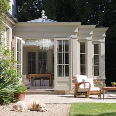 Explore Westbury Garden Rooms' case studies: glass garden rooms through to wooden orangeries, conservatories, pool houses and kitchen extension projects. Garden Room Extensions, House Extensions, Orangerie Extension, Conservatory Extension, Kitchen Orangery, U Shaped Houses, Westbury Gardens, Future House, My House