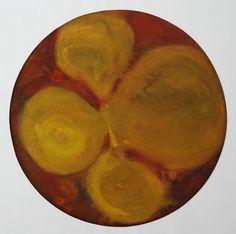 Lubomir Blecha, design for decorative glass disk, 1956, aquarelle on paper, D: 31,8 cm, Prague