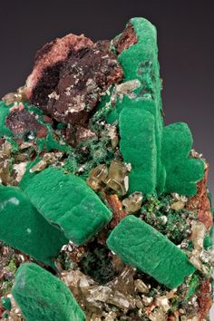 Malachite after Azurite with Cerussite from Namibia  by Dan Weinrich / Mineral Friends <3