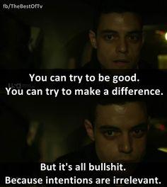 - Rami Malek in Mr. Robot.