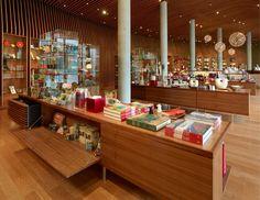 Crystal Bridges Museum store by Marlon Blackwell Architect, Bentonville   Arkansas art shop