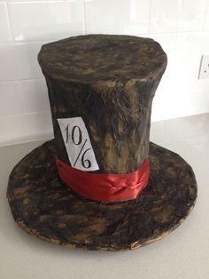 DIY Mad Hatters Alice in Wonderland Hat Cardboard