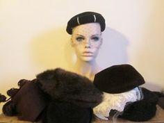 Beautiful Antique Vtg Womens Hat Lot 1920s-40s Velvet Wool Felt Beaded Veil  http://www.ebay.com/itm/Beautiful-Antique-Vtg-Womens-Hat-Lot-1920s-40s-Velvet-Wool-Felt-Beaded-Veil-/301851451408?hash=item4647bfa010:g:fFMAAOSwCypWnXi3
