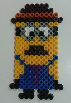 minion Hama Beads, Minions, Cupcake Factory, Perler Patterns, Diy, The Minions, Bricolage, Do It Yourself, Minions Love