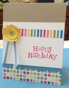 Im Happy Stampin: Sunshine and Sprinkles dsp. All images Stampin' Up!