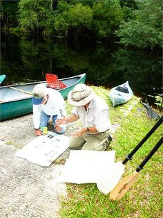 Mapping out a trip down the Santa Fe River #gainesville #kayak