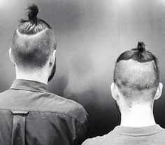 The man bun Undercut hairstyle is a spin,off of the slicked back Undercut. As you can see in the picture of a man bun Undercut, the hair is buzzed very Side Bun Hairstyles, Bun Hairstyles For Long Hair, Undercut Hairstyles, Man Bun With Fade, Low Skin Fade Haircut, Top Knot Men, Hair And Beard Styles, Long Hair Styles, Undercut With Beard