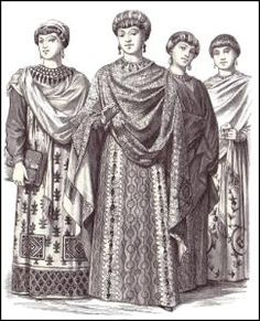 100 AD: Celtic upper class women's clothing