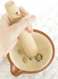 Mugi-Chai: A Japanese twist on masala chai tea - La Fuji Mama Food Photography Styling, Food Styling, Victoria Sponge Cake, Masala Chai, Star Anise, Clay Food, Porcelain Clay, Chocolate Pots, Mortar And Pestle