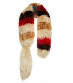Marni Striped Fox Fur Stole 10/13/16