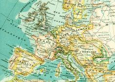 1897 Carte de l'Europe Carte recto verso par sofrenchvintage
