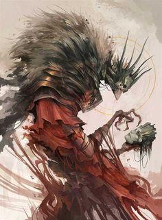 The Old King, Alexandre Chaudret, Digital, 2019 : Art Dark Fantasy Art, Fantasy Kunst, Dark Art, Fantasy Monster, Monster Art, La Danse Macabre, Old King, Arte Horror, Wow Art