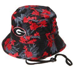 Georgia Bulldogs Top of the World Luau Bucket Hat - Black - $22.39