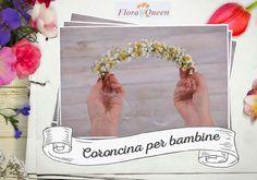 Anche i bimbi amano essere alla moda. Crea con loro una meravigliosa coroncina di fiori. Usa fiori di camomilla e gypsophila!
