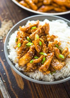 Finger lickin' sesame chicken is sticky, sweet, savory and super easy to make. Forget about take-out because this healthier version is 1000x better than any restaurant sesame chicken and come…